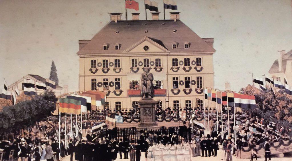Historisches Foto des Beethovendenkmals